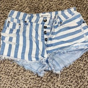 Roxy cutoff shorts
